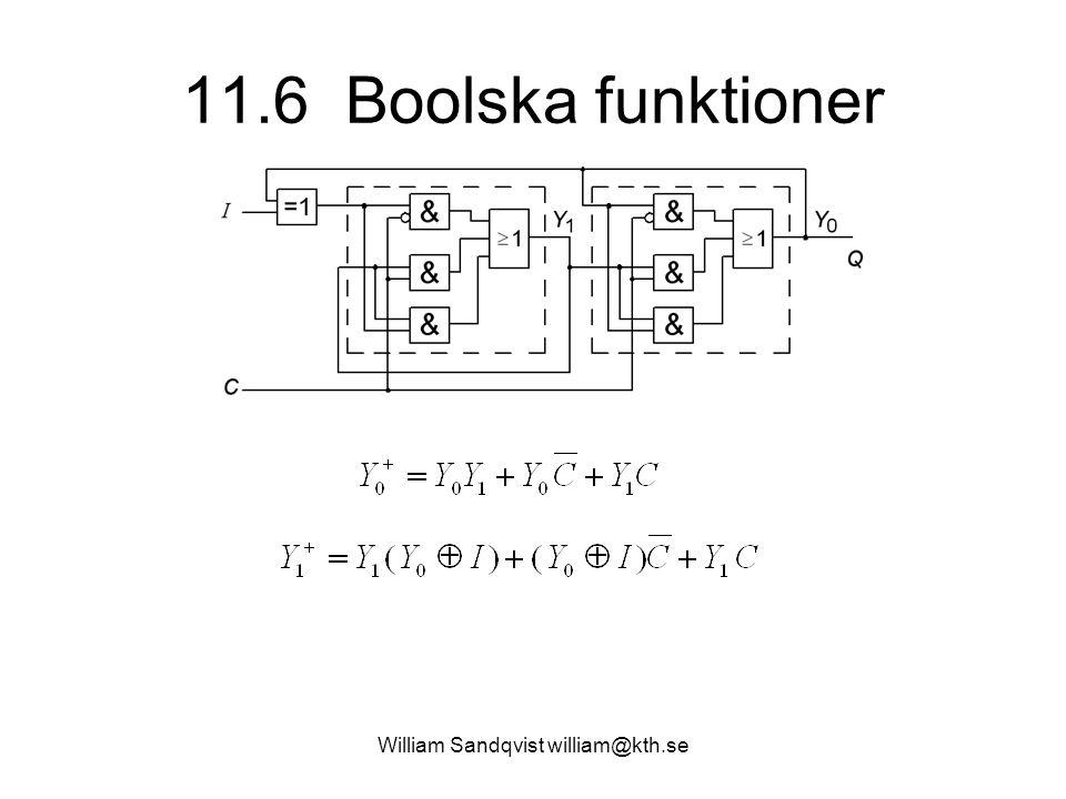 William Sandqvist william@kth.se 11.6 Boolska funktioner