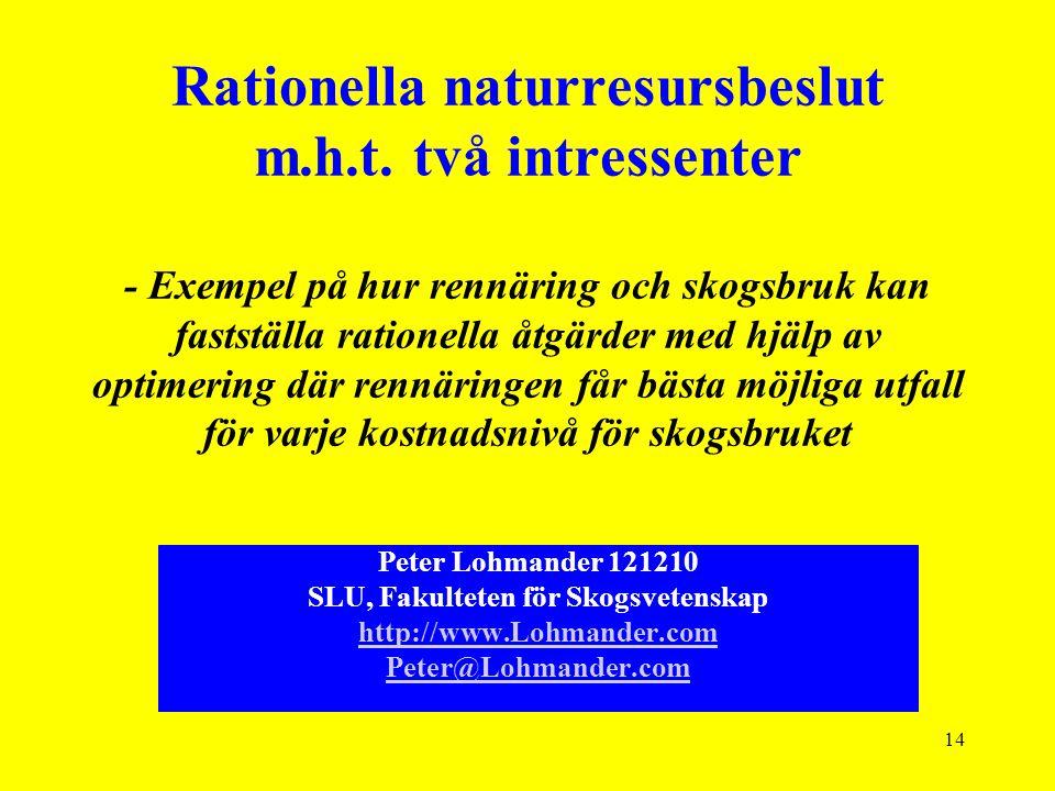 14 Rationella naturresursbeslut m.h.t.