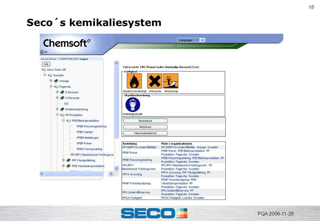 18 Seco´s kemikaliesystem PQA 2006-11-28