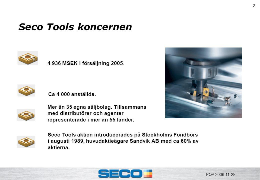 3 Seco Tools historia  Fagersta AB startade produktionen av hårdmetall 1931.
