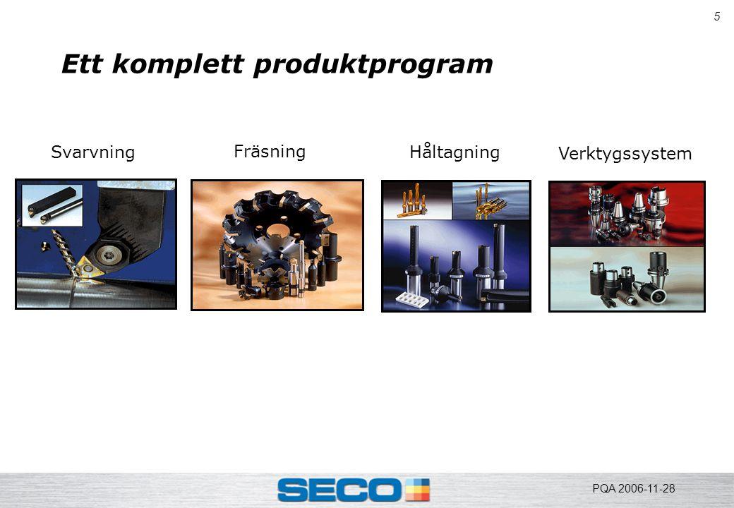 6 Teknologin Kolstål 1900 Snabbstål 1920 Hårdmetall 1940 Belagd HM 1960 Multibelagd HM 1970 CBN, PCD..