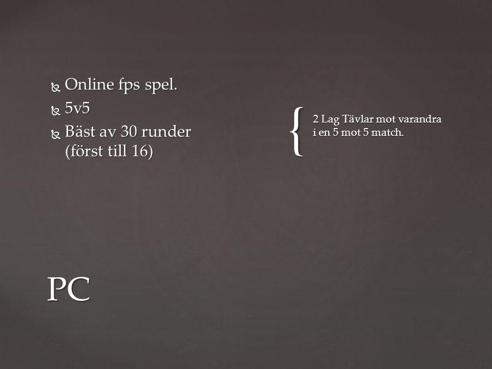 {  Online fps spel.