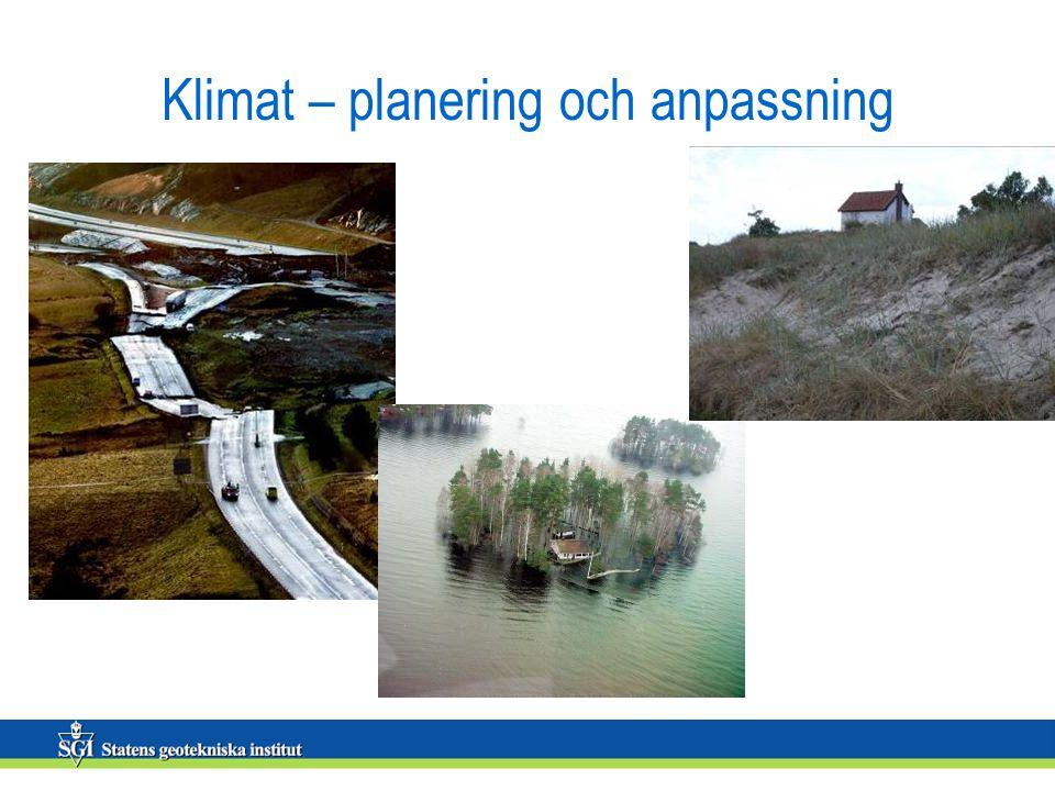 Klimat – planering och anpassning