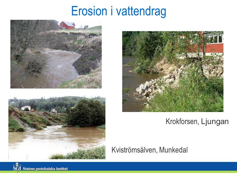 Erosion i vattendrag Kviströmsälven, Munkedal Krokforsen, Ljungan