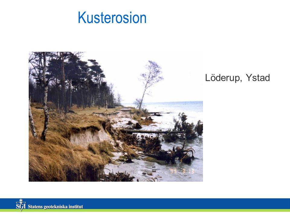 Kusterosion Löderup, Ystad