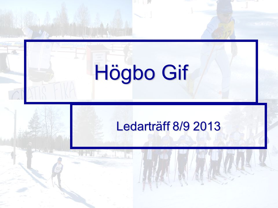 Högbo Gif Ledarträff 8/9 2013