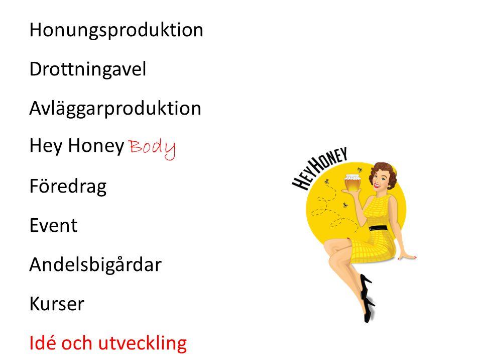 Honungsproduktion Drottningavel Avläggarproduktion Hey Honey Body Föredrag Event Andelsbigårdar Kurser Idé och utveckling