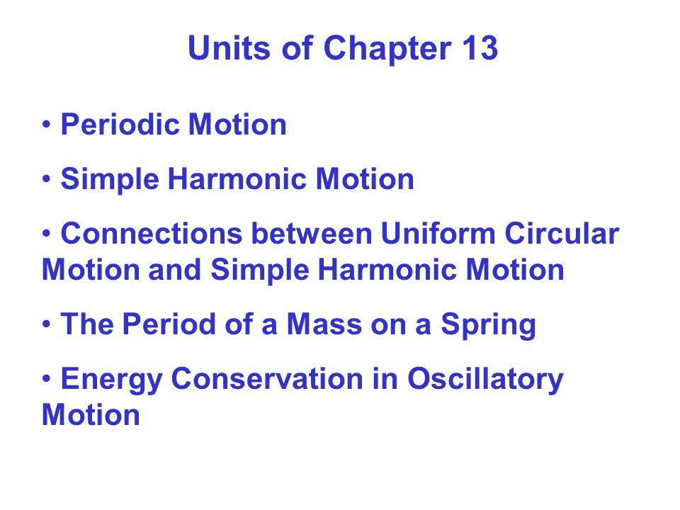 Units of Chapter 13 The Pendulum Damped Oscillations Driven Oscillations (Tvungna svängningar) and Resonance