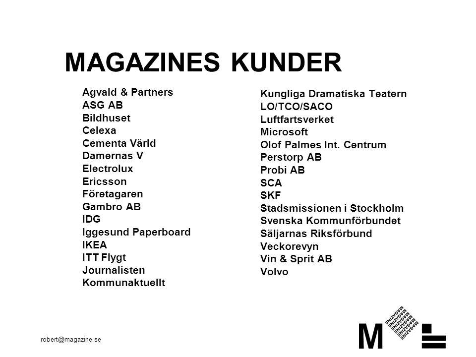 robert@magazine.se TEXT ÄR SVÅRT Besökaren vill inte läsa utan skummar Läsaren är otålig Informationsmängden är enorm Det är lätt att gå därifrån Läshastigheten är låg Typografin styrs av användaren Text är mycket hög grad av abstraktion