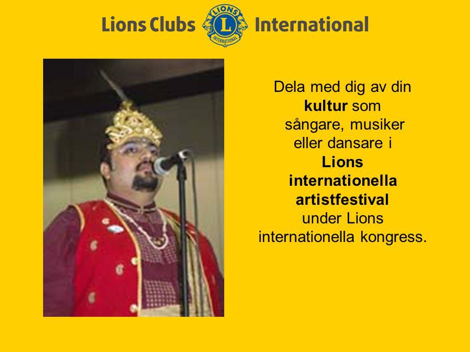 Förtjäna utmärkelsen Lions kultur- och samhällsaktiviteter, ett tygmärke för att ha genomfört det bästa samhällsservice- projektet i distriktet.