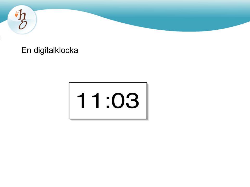 En digitalklocka