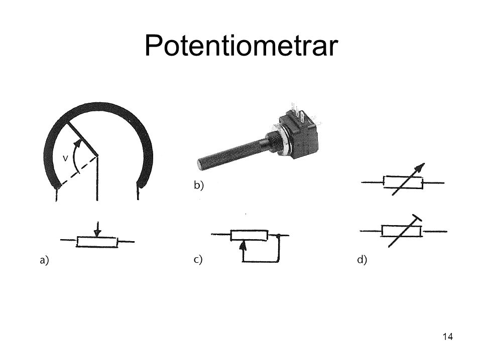 Potentiometrar 14