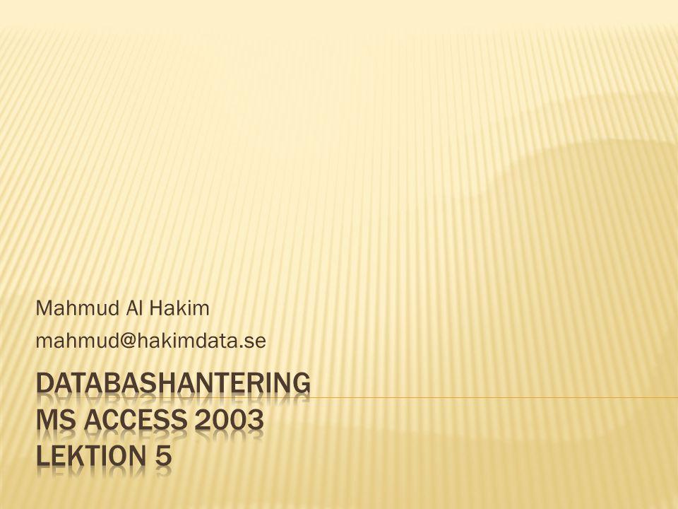 Mahmud Al Hakim mahmud@hakimdata.se