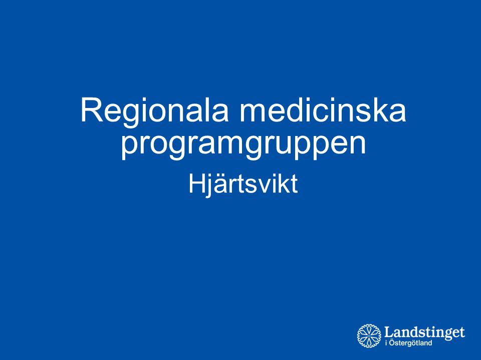 Regionala medicinska programgruppen Hjärtsvikt