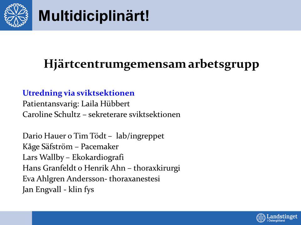 Multidiciplinärt!