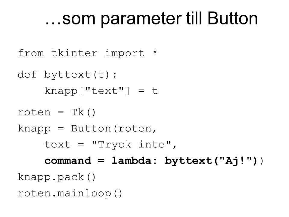 Layout Komponenter har metoder som styr hur de ska placeras i fönstret.
