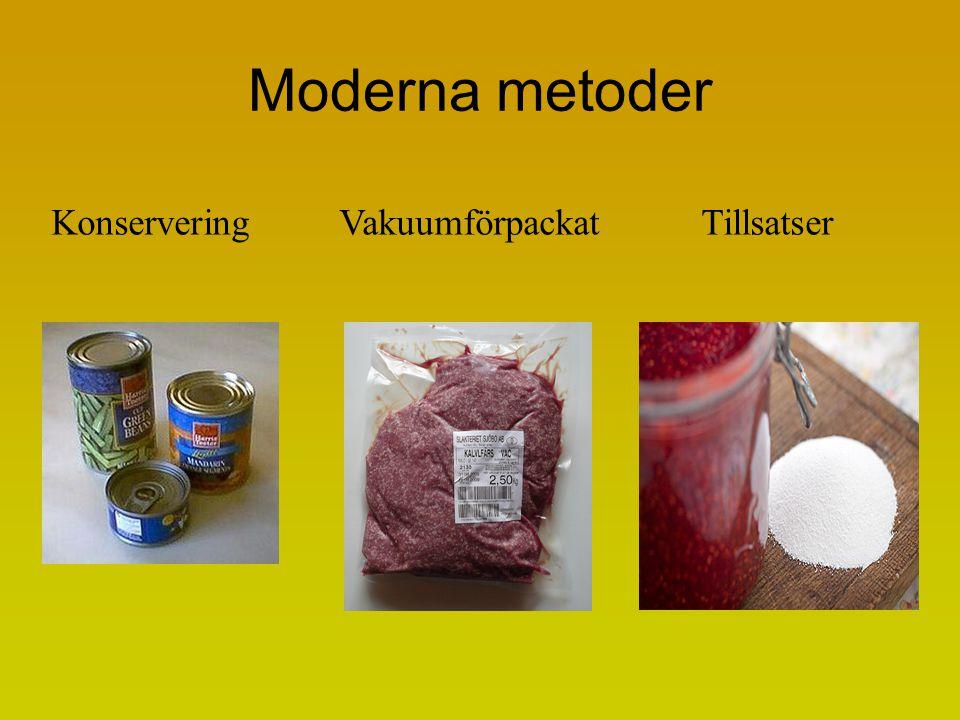 Moderna metoder KonserveringVakuumförpackat Tillsatser