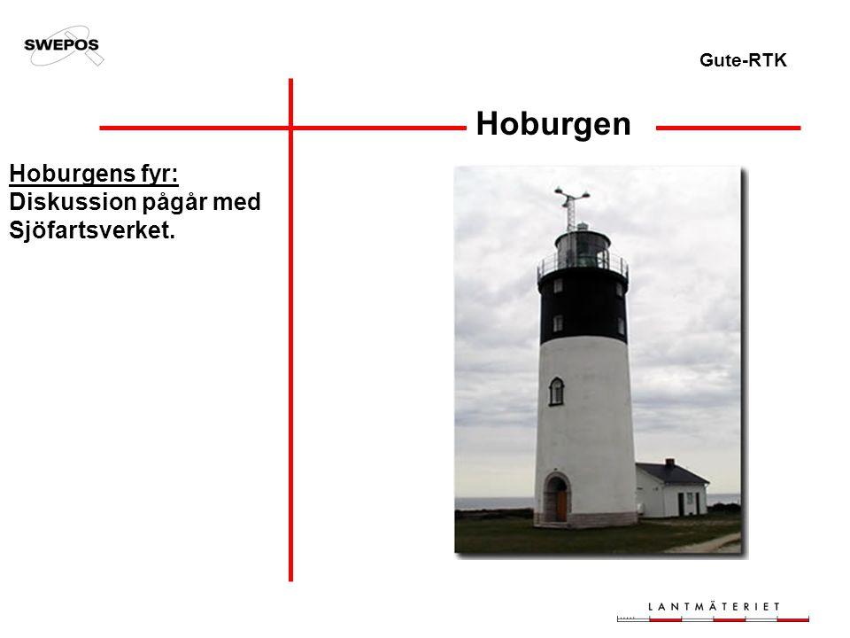 Gute-RTK Hoburgen Hoburgens fyr: Diskussion pågår med Sjöfartsverket.