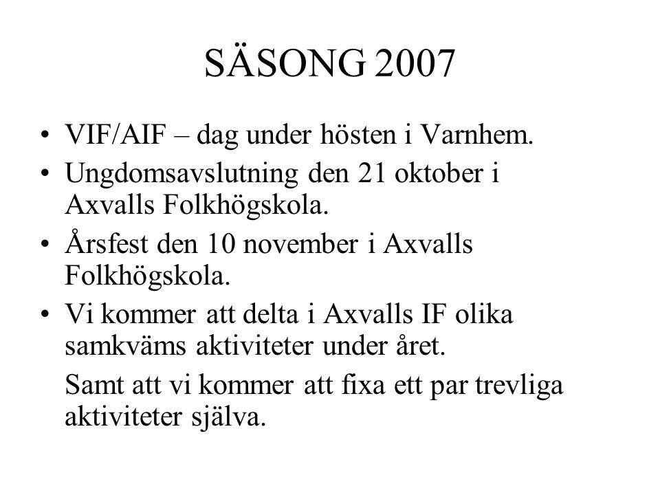 SÄSONG 2007 VIF/AIF – dag under hösten i Varnhem.