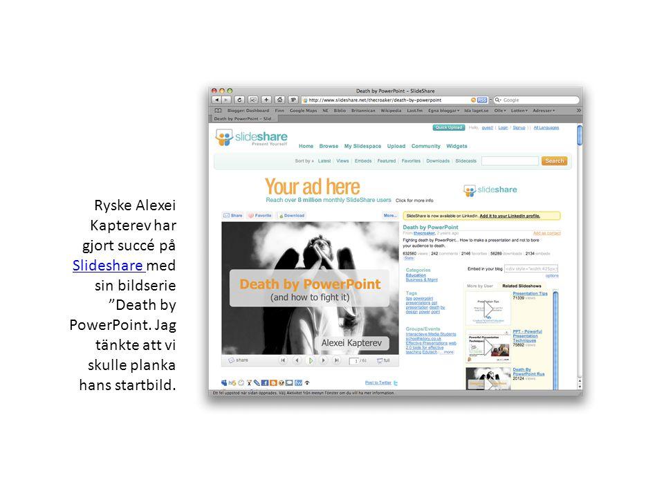 Ryske Alexei Kapterev har gjort succé på Slideshare med sin bildserie Death by PowerPoint.