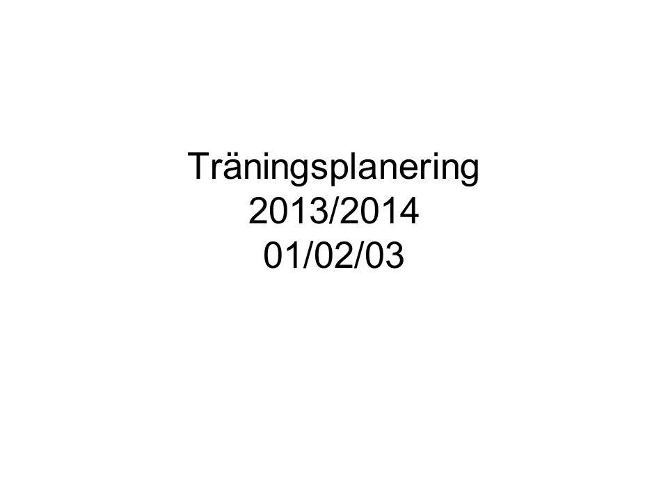 Träningsplanering 2013/2014 01/02/03