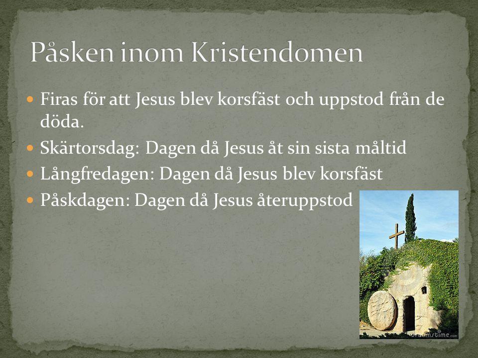 Två sakrament: Nattvarden och dopet Det finns vissa regler om hur de kristna ska leva.