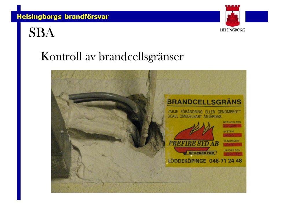 Helsingborgs brandförsvar SBA Kontroll av brandcellsgränser