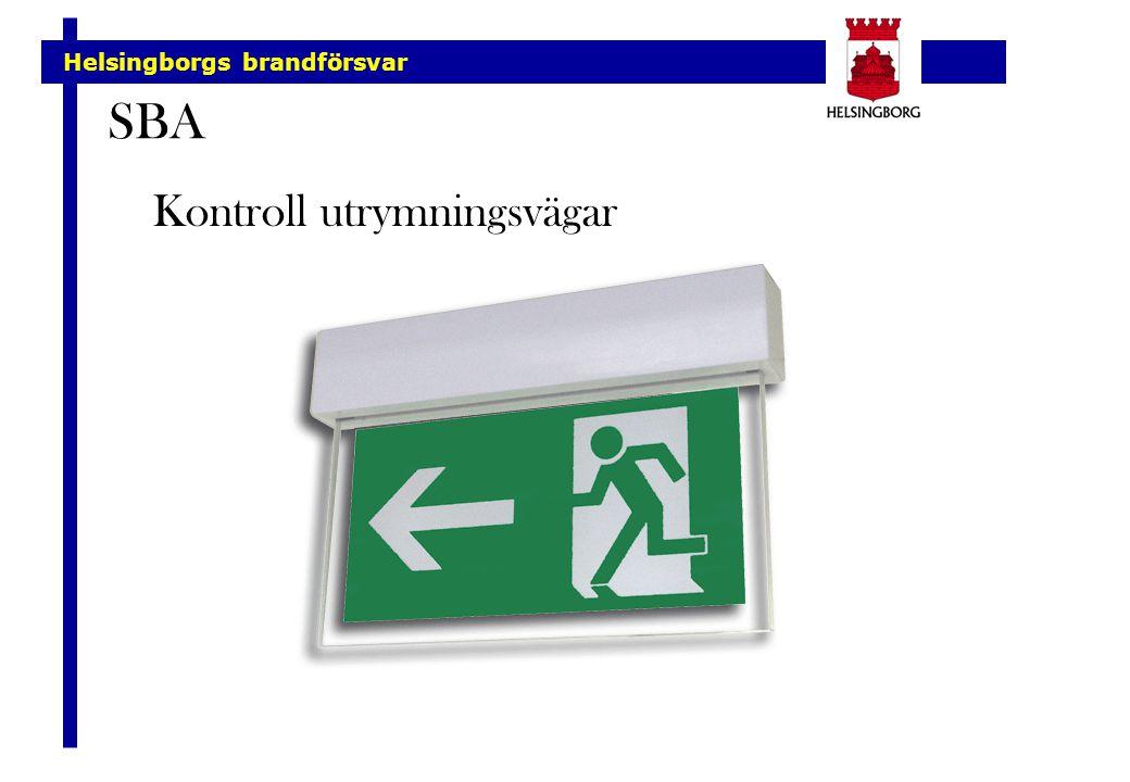 Helsingborgs brandförsvar SBA Kontroll utrymningsvägar