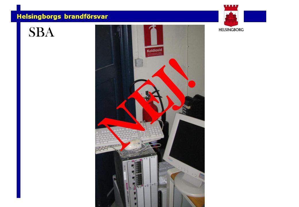 Helsingborgs brandförsvar SBA NEJ!