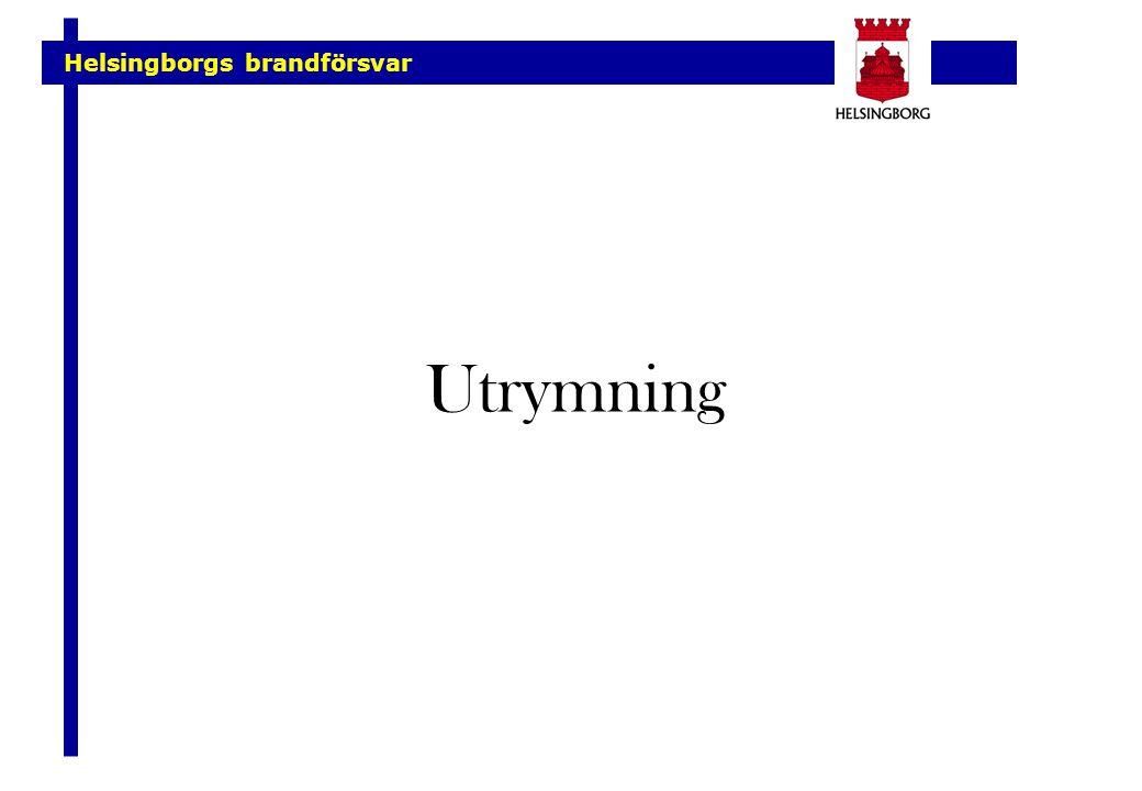 Helsingborgs brandförsvar Utrymning