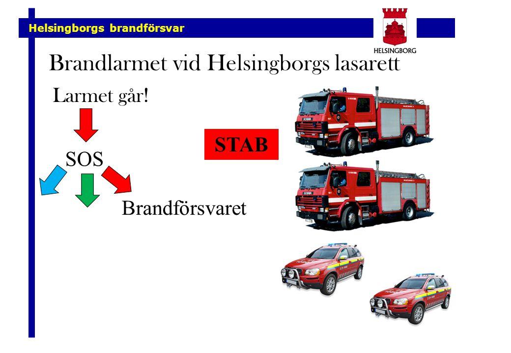 Helsingborgs brandförsvar Brandlarmet vid Helsingborgs lasarett Larmet går! SOS Brandförsvaret STAB