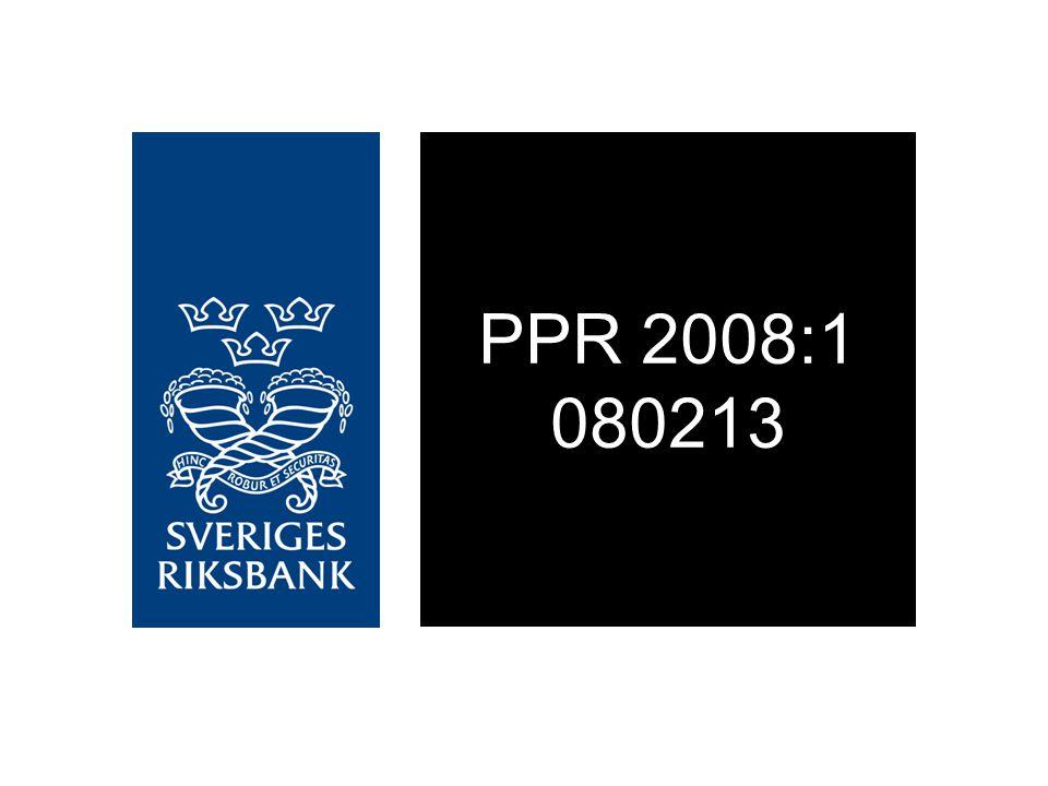 Diagram 1. Reporänta med osäkerhetsintervall Procent, kvartalsmedelvärden Källa: Riksbanken