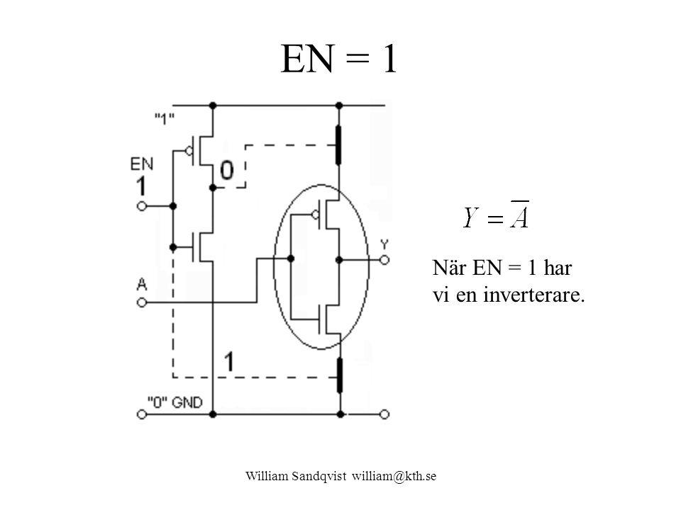 EN = 1 William Sandqvist william@kth.se När EN = 1 har vi en inverterare.