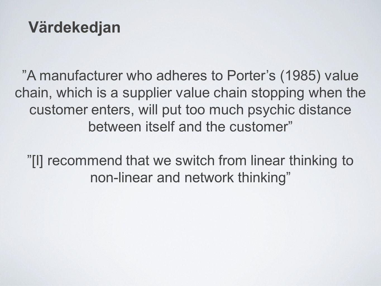 Slutsats & Förändrade köpmönster Konsumenten drog lärdom från händelsen med frysen men gjorde Electrolux, återförsäljaren och transportfirman det.