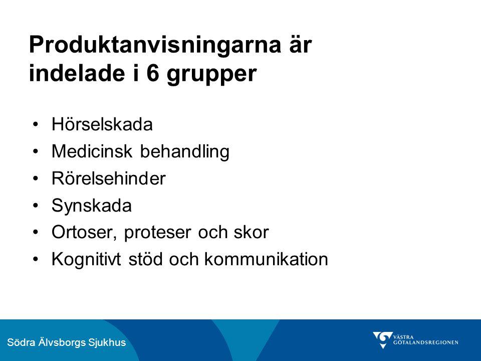 Södra Älvsborgs Sjukhus Hjälpmedel vid medicinsk behandling