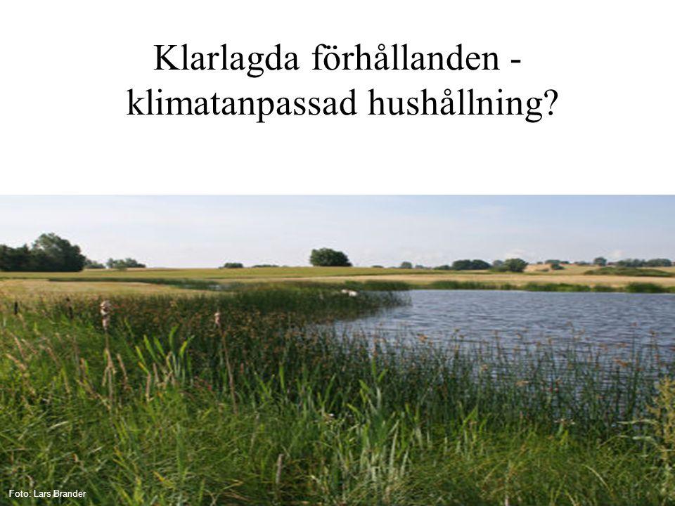 Klarlagda förhållanden - klimatanpassad hushållning? Foto: Lars Brander