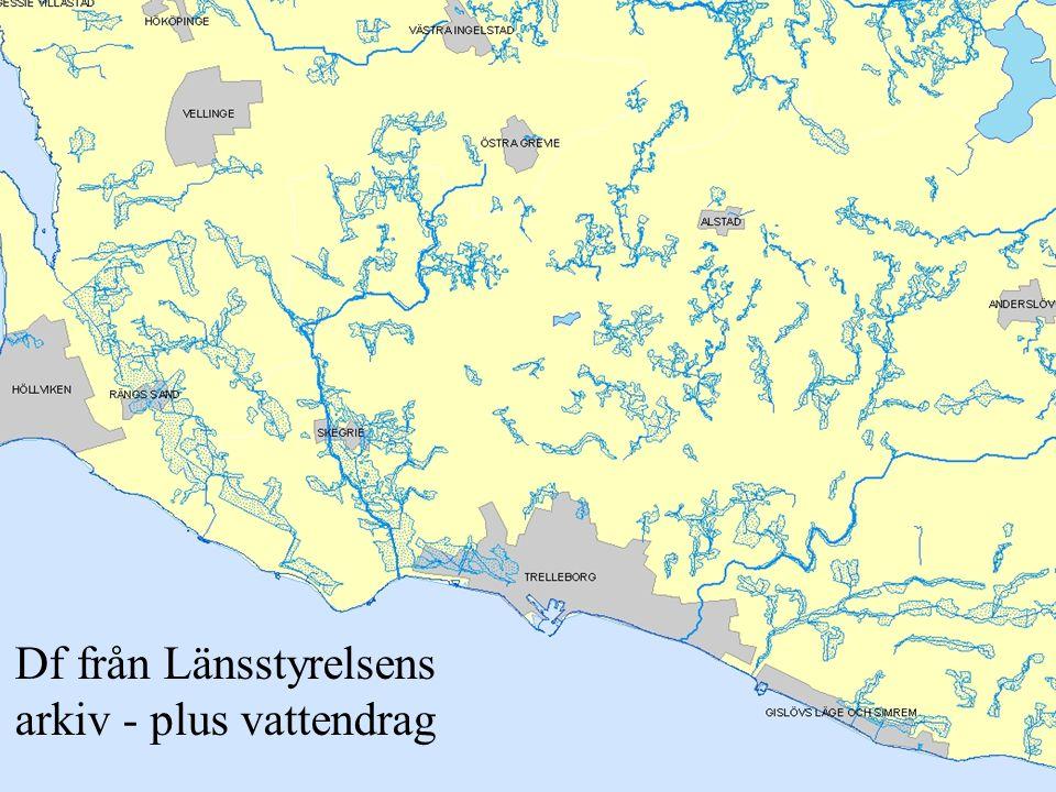 Df från Länsstyrelsens arkiv - plus vattendrag