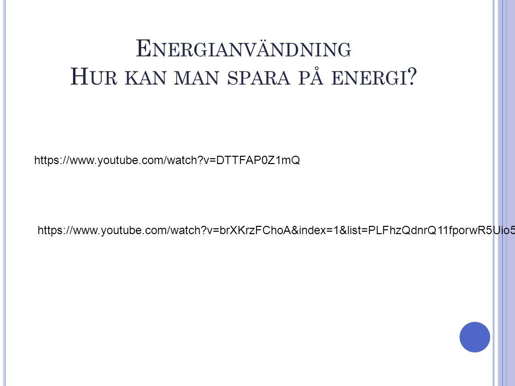 https://www.youtube.com/watch?v=brXKrzFChoA&index=1&list=PLFhzQdnrQ11fporwR5Uio5wmNqKtUoxwT E NERGIANVÄNDNING H UR KAN MAN SPARA PÅ ENERGI .