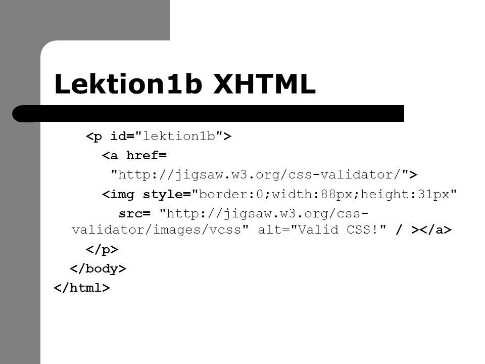 Lektion1b CSS h1 { background-color : #ffffff; color : #000000; font-size : 23pt; font-weight : bold; font-family: Garamond, serif; }
