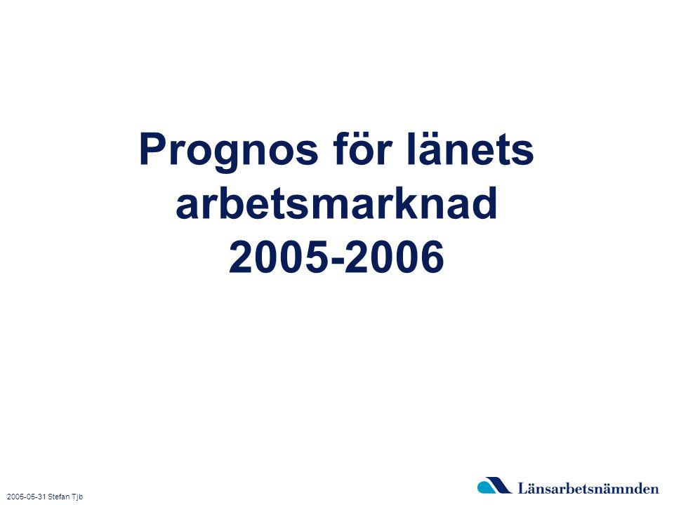 2015-04-03 Bild 1 Prognos för länets arbetsmarknad 2005-2006 2005-05-31 Stefan Tjb