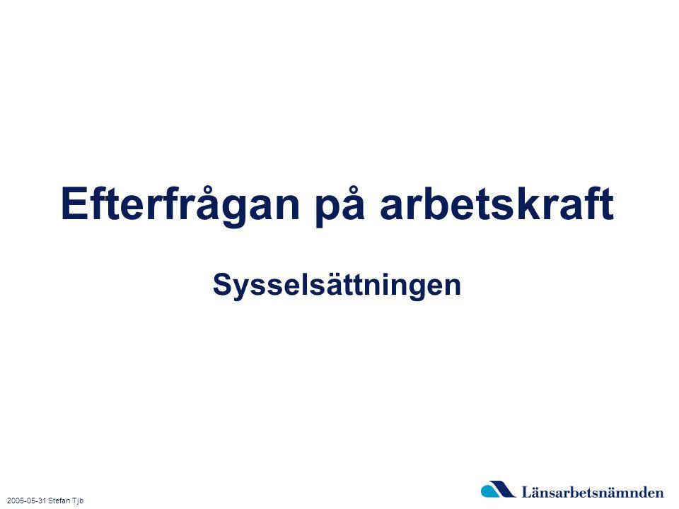 2015-04-03 Bild 14 Efterfrågan på arbetskraft Sysselsättningen 2005-05-31 Stefan Tjb