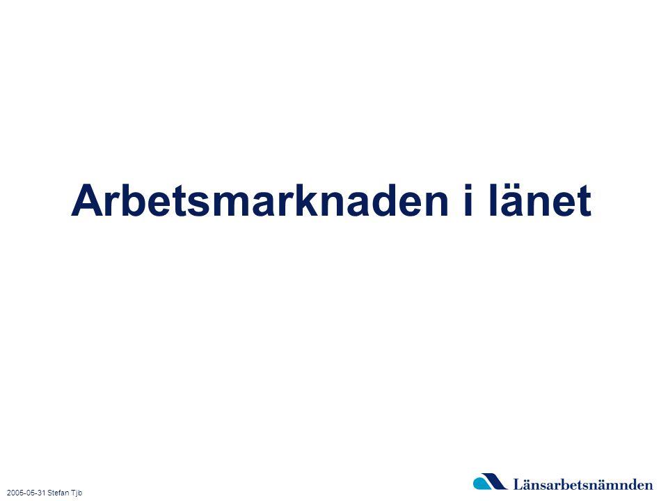2015-04-03 Bild 3 Arbetsmarknaden i länet 2005-05-31 Stefan Tjb