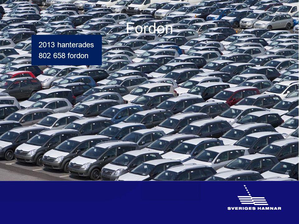 Fordon 2013 hanterades 802 658 fordon