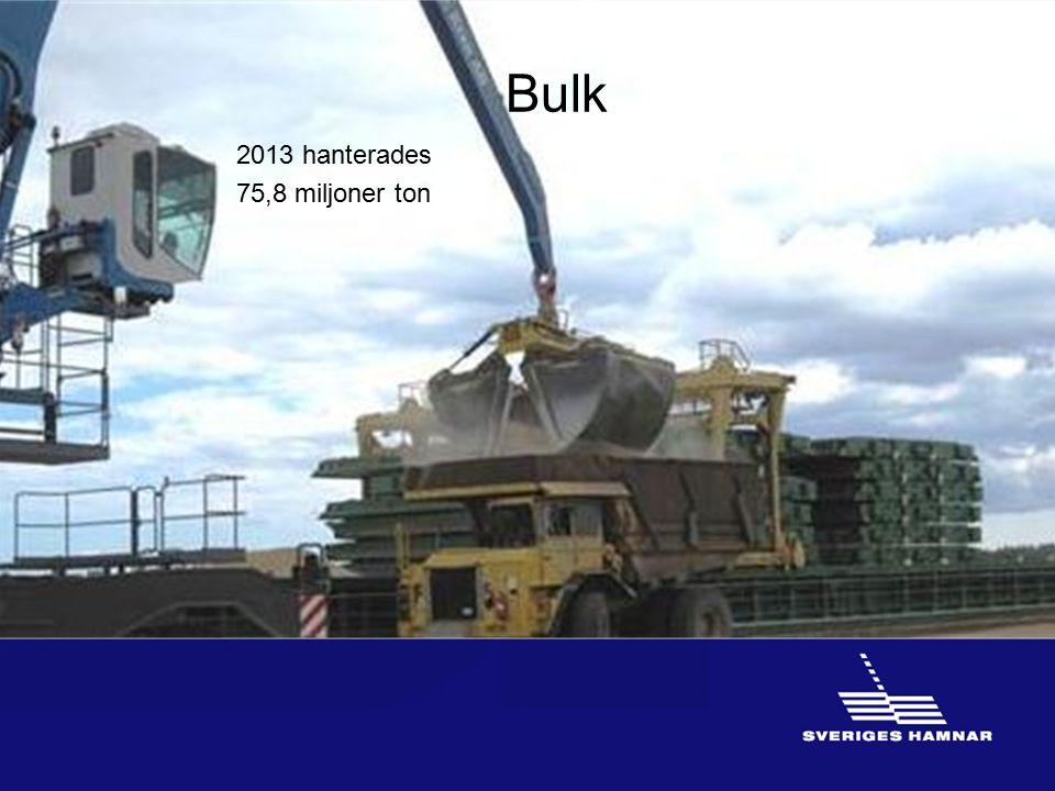 Bulk 2013 hanterades 75,8 miljoner ton