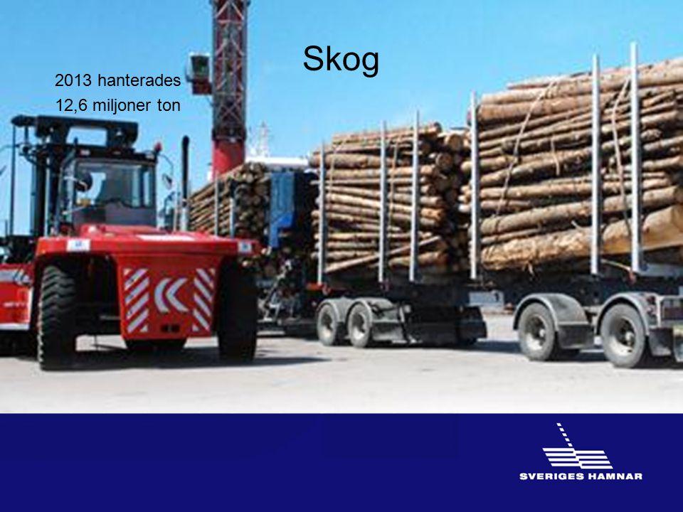 Skog 2013 hanterades 12,6 miljoner ton