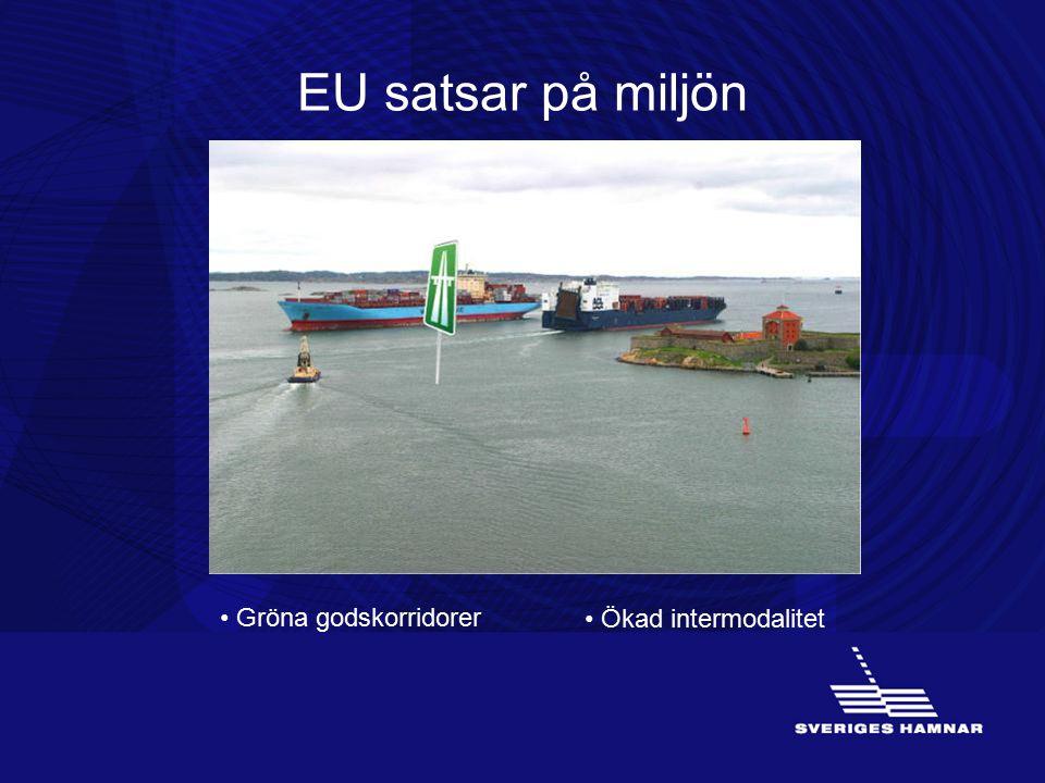 EU satsar på miljön Gröna godskorridorer Ökad intermodalitet