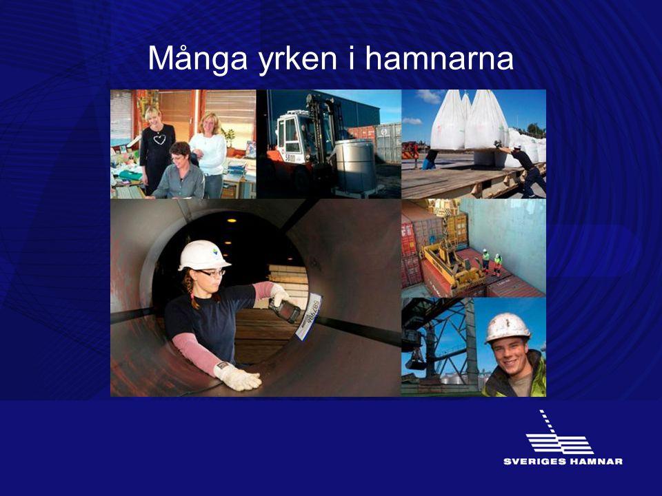 Många yrken i hamnarna