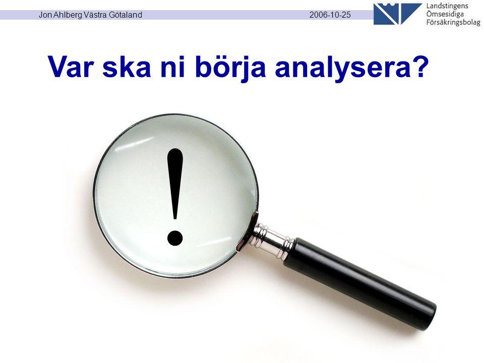 2006-10-25 Jon Ahlberg Västra Götaland ! Var ska ni börja analysera?