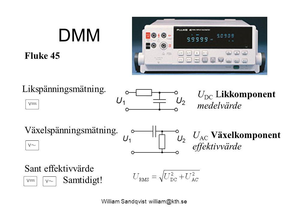 Automatiska mätningar jämförelse med DMM Average-N AC-RMS-N DC-RMS-N U AC Växelkomponent effektivvärde U DC Likkomponent medelvärde U ACDC Totalt effektivvärde