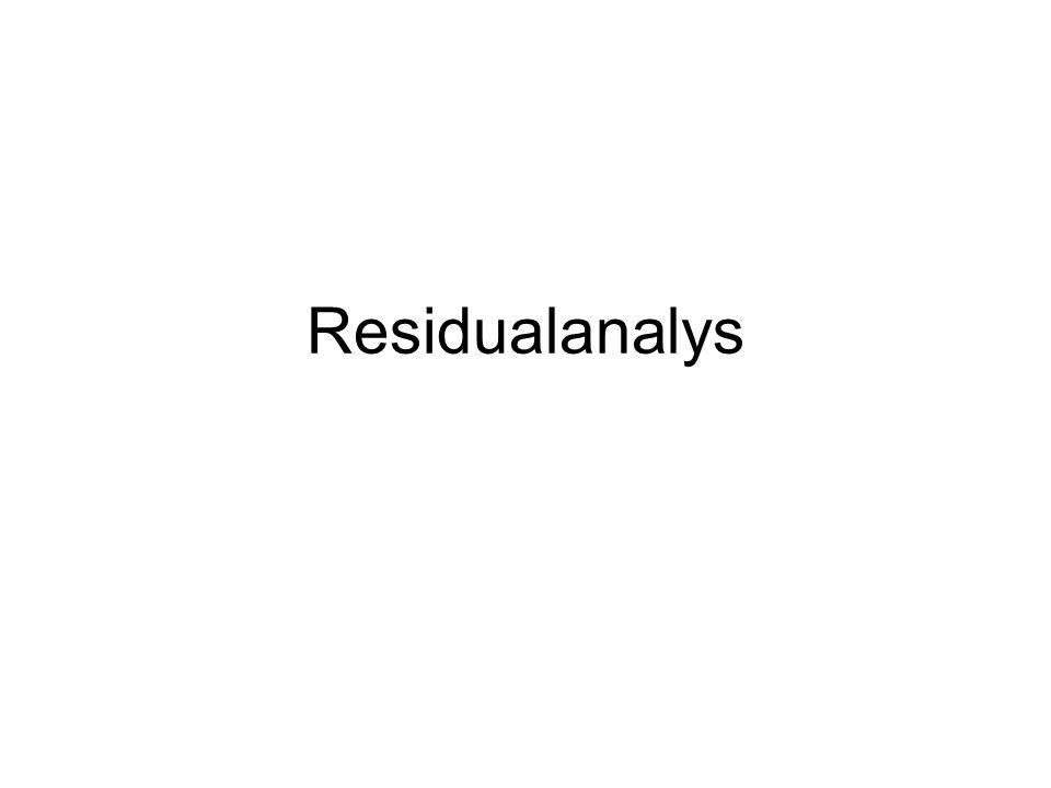 Residualanalys